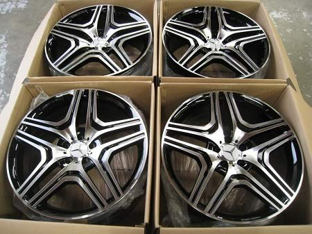 22' G63 STYLE WHEELS RIMS FITS MERCEDES BENZ MB SUV G WAGON G500 G550 G55