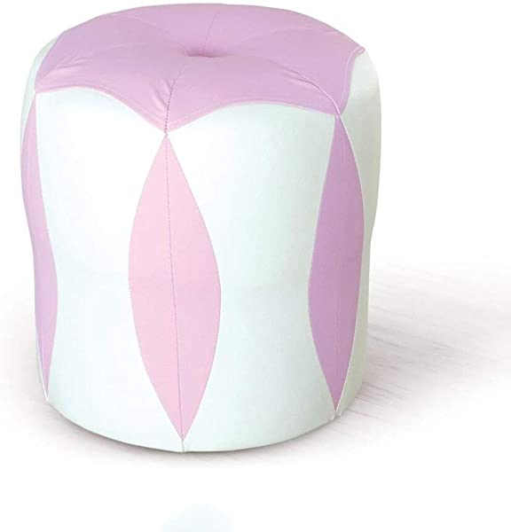 Carl Artbay Wooden Footstool White Pink Flower Stool Low Stool Change Shoes Make Up Stool Children S Leather Stool Waterproof Home