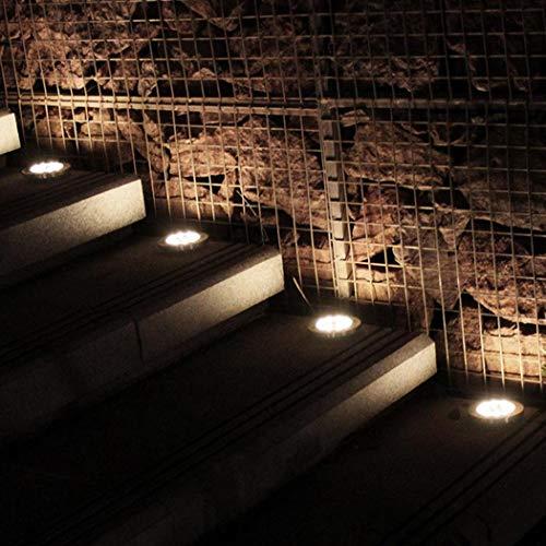 Fandazzie Luces subterráneas solares de 16 LED Luces de césped Impermeables Decoración de jardín Iluminación de Caminos