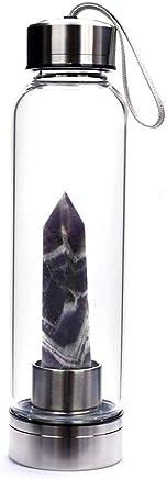 90.294.90/008/apparizione Virgen de Lourdes Botella Botella de cristal con tap/ón plateado para agua santa