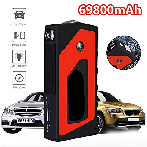 Great Deal! Car Jump Starter Emergency, 69800Mah 12V Starting Device 4USB SOS Light Mobile Power Ban...