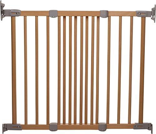 BabyDan Super Flexi Fit Extending Wooden Safety Gate (Beech/Silver)
