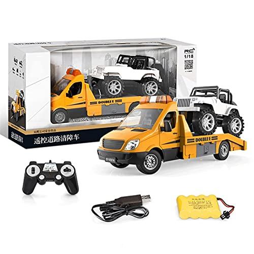 CYLYFFSFC Allround-Fernbedienung/manuelle Simulation Traktion/Simulation Sound und Licht/mit Geländewagen, Abschleppwagen, BAU-LKW-Anhänger, Straßenrettungsfahrzeug, Kinderspielzeugauto