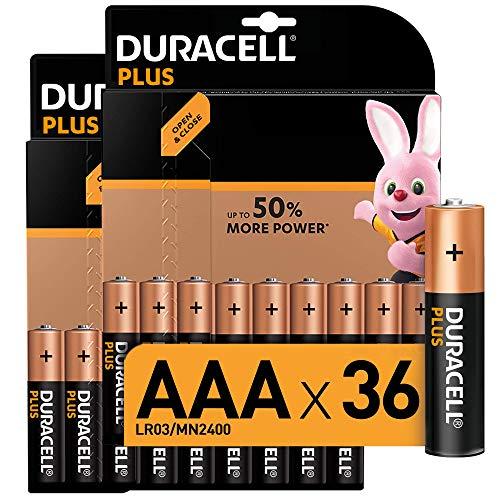 Duracell Plus AAA Micro Alkaline Batterien LR03, 36er Pack