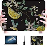Laptop Protector Case Leaved Lemon Sliced Yellow Plastic Hard Shell Compatible Mac Air 13' Pro 13'/16' MacBook Pro 13 Cases Protective Cover for MacBook 2016-2020 Version