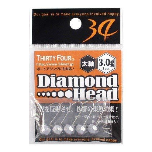 34 ダイヤモンドヘッド 太軸 3.0g