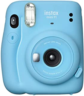 Fujifilm Instax Mini 11 Automatic Flash Fujifilm Instax Mini 11 Photo Camera, Sky Blue, Sky Blue (87010)