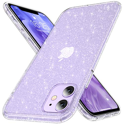 CASEKOO Crystal Glitter Designed for iPhone 11 Case Not Yellowing Military Grade Drop Tested Bling Clear Shockproof Protective Phone Case Thin Slim Cover 61 inch 2019 Twinkle Stardust