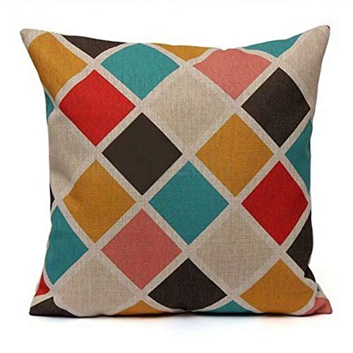 LCHULLE Cushion Covers Decorative Cotton Linen Throw Pillow Case Sofa Car Pillowcase for Home Bed Decor 45 x 45cm,Set of 1(Graphic 8)