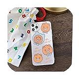 日本かわいい漫画ピーチ透明電話ケースiphone 11プロ最大X XS XR 7 8プラス素敵なクリアカップルカバーCoque、iphone 11プロ、1