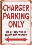 Tengss Metallschild, 8 x 12 cm, Motiv: Opel Manta Parking