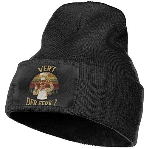 Vert Der Ferk T-Shirt Vert Der Ferk Chef Acryl Manschette Strickmütze Classic Stretchy Cuffed Warm Winter Cap Black