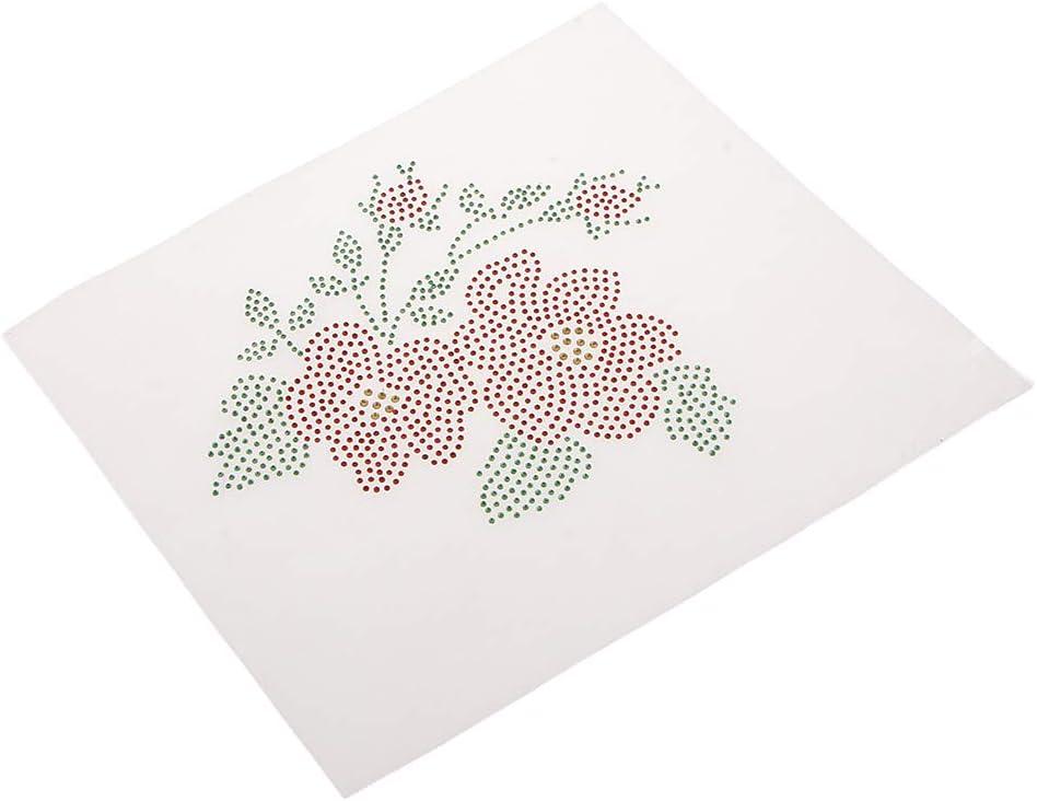Ranking TOP10 online shop Milageto Rhinestone Flower Beads Iron Press Applique on Clo Heat