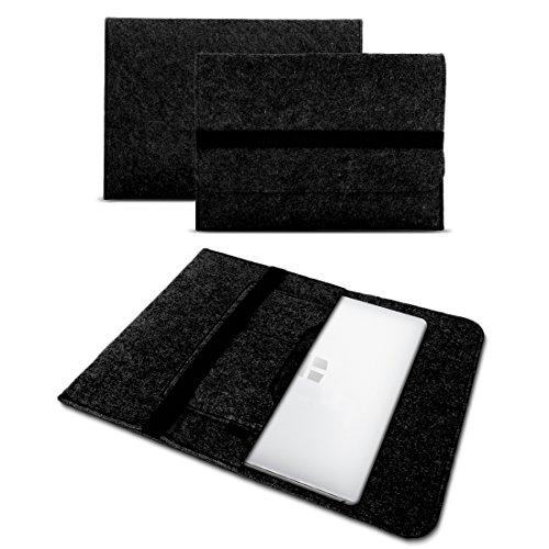UC-Express Sleeve Hülle kompatibel für Odys Trendbook 14 Pro Tasche Filz Notebook Cover 14' Laptop Schutz Hülle, Farbe:Dunkel Grau