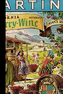 Notebook Wine: small lined Vintage Label Notebook / Travel Journal to write in (6'' x 9'') 120 pages
