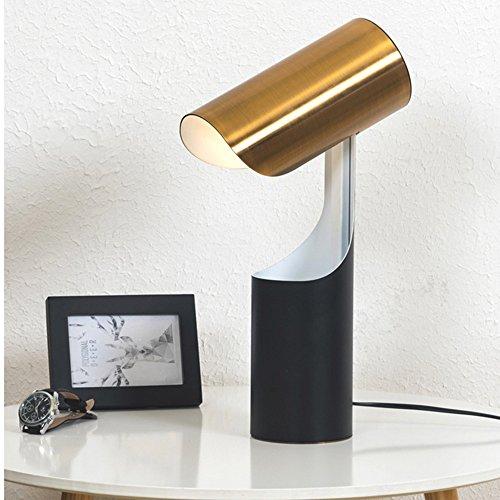 Lampe de bureau moderne créative Éclairage Plaque Lampe de table en style abstrait Lampe de salon Lampe de chevet, E27 (non inclus), Doré/noir 40.0W