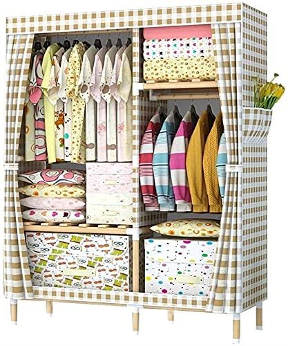 Armario Dormitorio Habitación de Alquiler de Telas Montaje Moderno y Sencillo de Madera Maciza Dormitorio en casa Paño de Tela Oxford Paño de Dormitorio (Color: Rosa, Tamaño: 105x45x150CM / 41x18x150