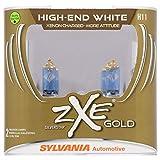 SYLVANIA - H11 (64211) SilverStar zXe GOLD High Performance Halogen Headlight Bulb - Headlight & Fog Light, Bright White Output, Best HID Alternative, Xenon Charged Technology (Contains 2 Bulbs)