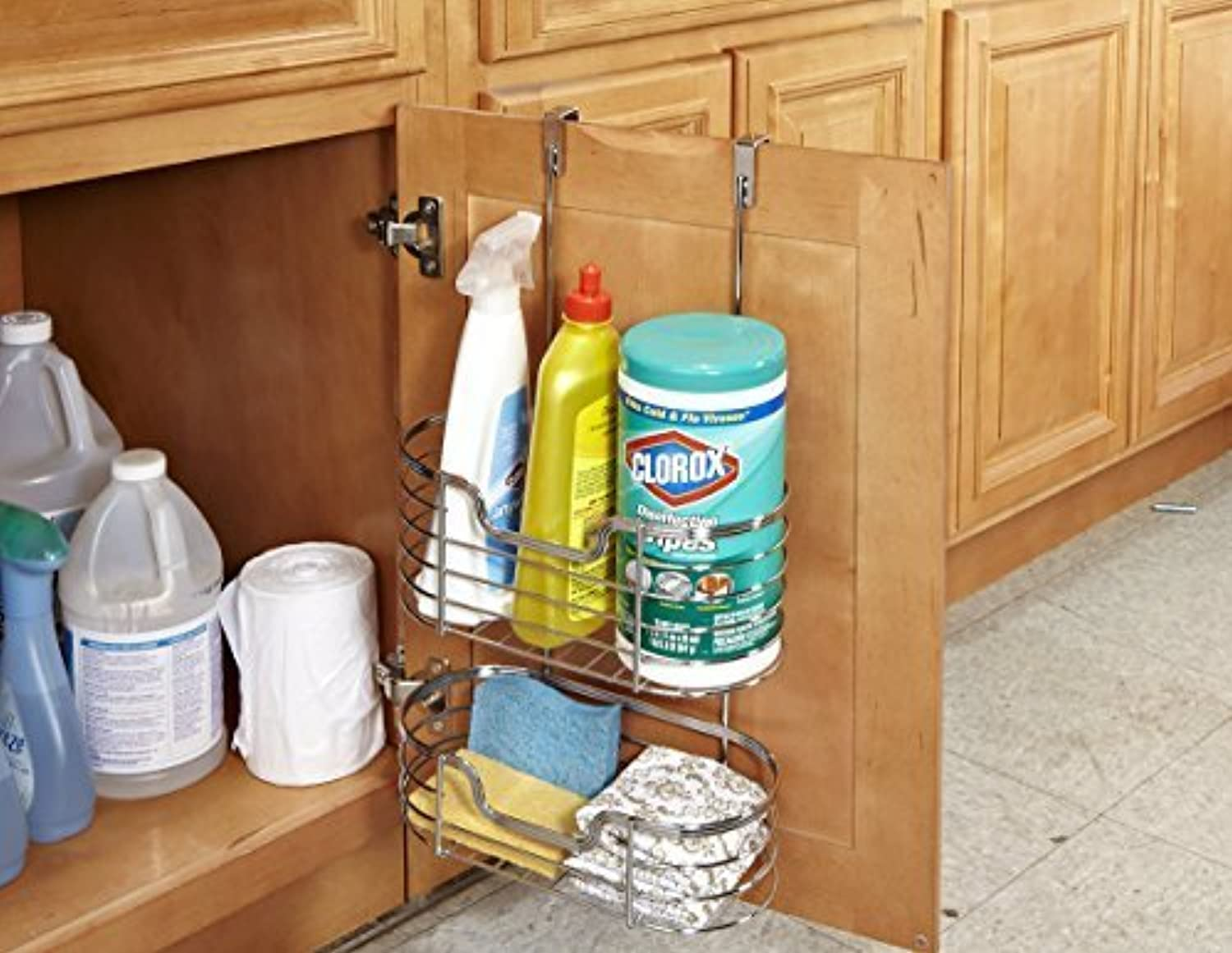 Kitchen Details 2 Tier Cabinet Organizer, Chrome