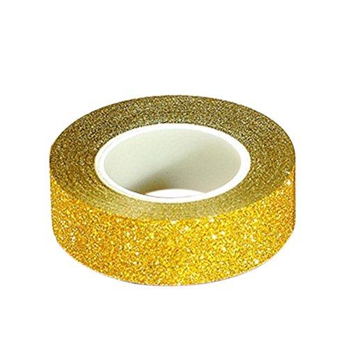 good011,5m), con purpurina cinta adhesiva con estampado adhesivo Scrapbooking Craft DIY kit talla única Golden