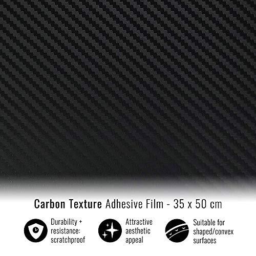 Foglio Pellicola Adesiva Carbon Look, 35 x 50 cm