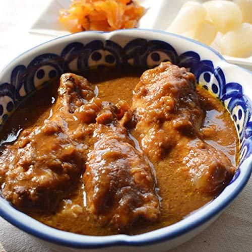 レトルト 手羽煮 2種類入 はかた一番どり 湯煎 カレー味 トマト味 常温保存 メール便
