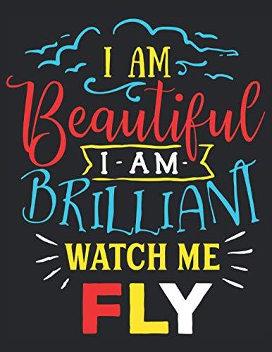 Autism Planner Workbook - I Am Beautiful I Am Brilliant Watch Me Fly: Autism Planner Workbook - Soft