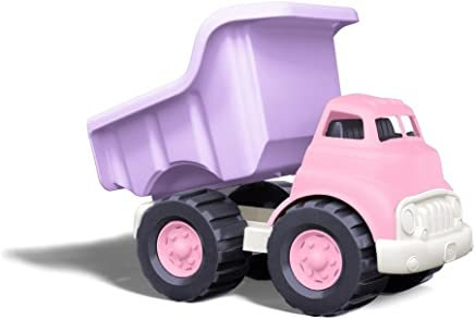 Green Toys Dump Truck in Pink Color - BPA Free, Phthalates Free Play Toys for Improving Gross Motor, Fine Motor Skills. Play Vehicles