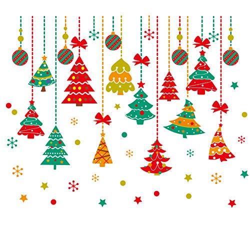 DWWSP Haus Dekoration [SHIJUEHEZI] Vater Weihnachtsfenster-Aufkleber-Vinyl DIY Bäume Behang Wandaufkleber for Wohnzimmer Glas-Festival-Dekoration (Color : Style2)