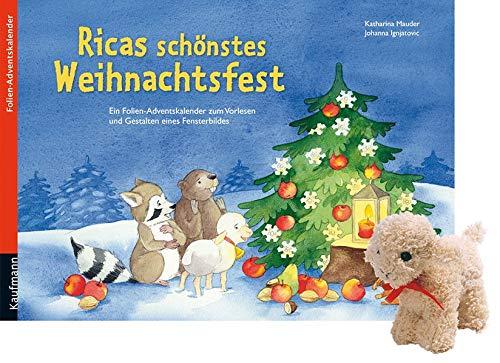 Ricas schönstes Weihnachtsfest: Ein Folien-Adventskalender zum Vorlesen und Gestalten eines Fensterbildes mit einem Stoffschaf (Adventskalender mit ... Kinder: Ein Buch zum Vorlesen und Basteln)