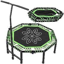 Kleine trampoline rebounder voor volwassenen Kinder Fitness Trampolines Trainer met verstelbare handgreepbalk voor binnen ...