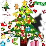 Amacoam Arbol Navidad Fieltro DIY Arbol de Navidad Fieltro Decoraci/ón Colgante de Pared Ni/ños Adornos Extra/íbles para Ni/ños Decoraciones de Navidad A/ño Nuevo Navidad Regalo