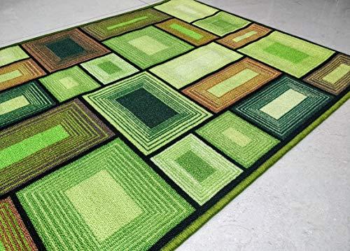 Groen Decor 3D Groen Kleur gebied Vloer Tapijt super absorberend Polyester Eco vriendelijke Latex aan de achterkant voor anti Slip Soft Touch Yoga Mat 120 x 80 cms