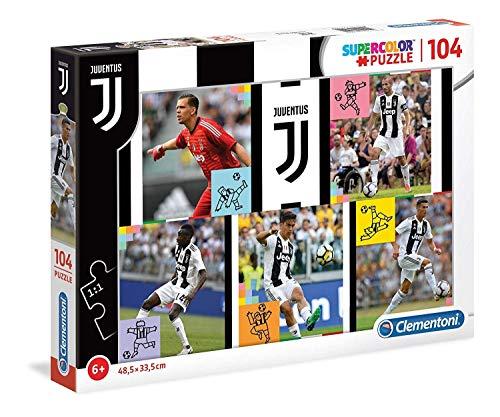 Clementoni- Puzzle Juventus-104 Pezzi, Multicolore, 27522