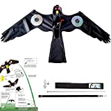Yomyray Birds Scarer Hawk Flying Kite Simulated Hawk Flash Reflective Device Professional Pigeon Scarer for Outdoor Home Garden Farm