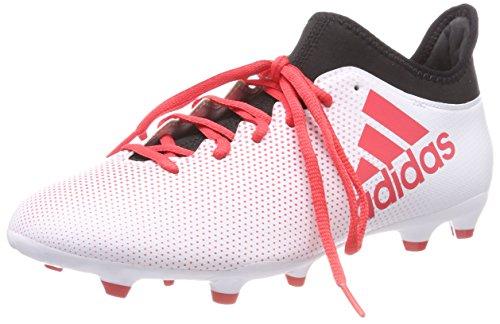 adidas X 17.3 FG, Botas de Fútbol Para Hombre, Blanco (Ftwbla/Correa/Negbás 000), 40 EU
