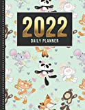 2022 Daily Planner: One Page Per Day Diary / Dated Large 365 Day Journal / Animals in Tutus - Ballerina Ballet Dancer Art / Date Book With Notes ... Time Slots - Schedule - Calendar / Organizer