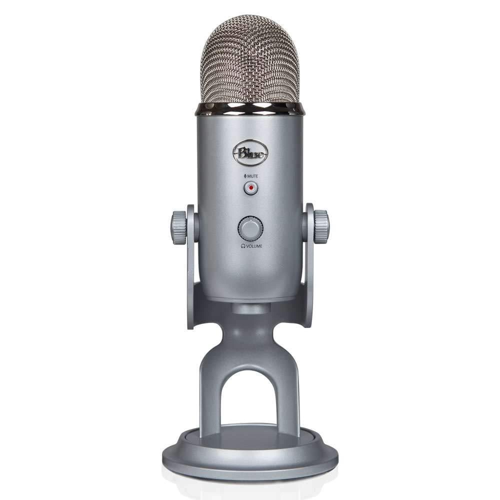 Blue yeti 雪怪USB专业电容麦克风 电脑手机游戏直播 主播唱歌喊麦话筒 全民K歌唱吧会议录音 MIC原装进口