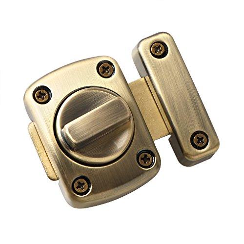 Sayayo Cerradura de la puerta del pestillo del pestillo giratorio del pestillo del baño, bronce antiguo, EMS220U-Q