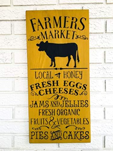 CELYCASY Farmer's Market Dekor, Markt-Schild, Lokaler Markt, Außenmarktkunst, Bauernmarkt, Bauernmarkt, Frische Dekoration, frisches Bioschild