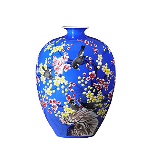 CJH Royal Blue Chinese Home Wohnzimmer Dekorationen Handwerk handbemalt Porzellan Flasche Keramik Vase Dekoration Blumenschmuck