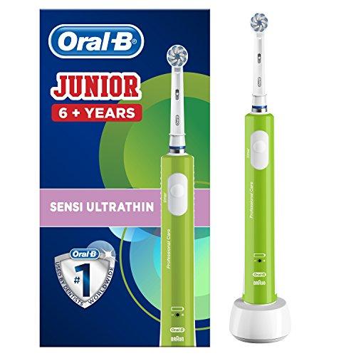 Oral-B Junior Cepillo De Dientes Eléctrico, 1 Mango Verde Recargable Con Tecnología...