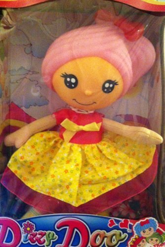 DIZZY DOO DOLL PINK HAIR PINK DRESS WITH YELLOW OVERLAY