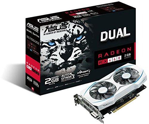 Asus Dual-RX460-2G AMD Radeon Grafikkarte (2GB DDR5 Speicher, PCIe 3.0, HDMI, DisplayPort, DVI)