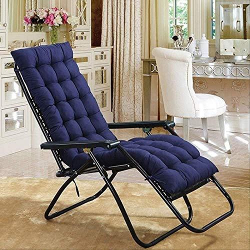 NoNo Solid Recliner Schommelstoel mat soft back kussen kussen voor stoel tatami mat lounger recliner kussen pad 48x125cm marineblauw
