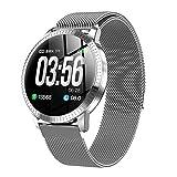 l b s Reloj inteligente, pantalla táctil con monitor de frecuencia cardíaca y presión arterial, rastreador de actividad masculina y femenina, IP67 impermeable, compatible con Android IOS (C) (A)