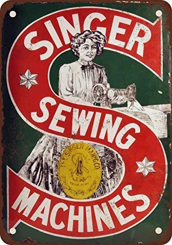 Shimeier Singer Máquina de Coser Retro Vintage Estaño Sign Coffee House Home Dining Room Pub Beer 20 cm x 30 cm