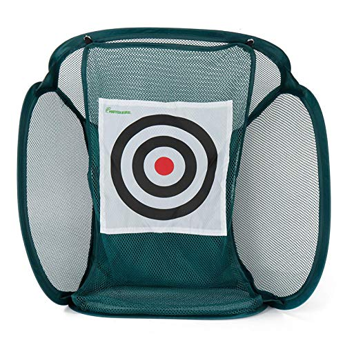 Yhjkvl Red de golf plegable para entrenamiento de golf, red de práctica con bolsa de almacenamiento, jaula para interiores y exteriores, entrenamiento