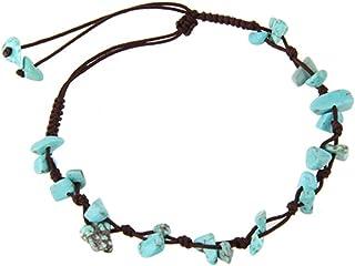 Bracciale-Orecchino-Ciondolo-Cavigliera con pietre naturale di turchese