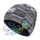 V5.0 Bluetooth Beanie Cappello Cuffie Auricolare Senza Fili Inverno Musica Speaker Cappello Maglia Running Cap con Altoparlanti Stereo Mic